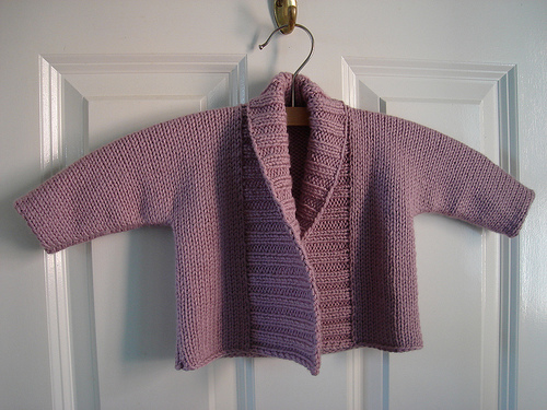 baby jacket with ribbing